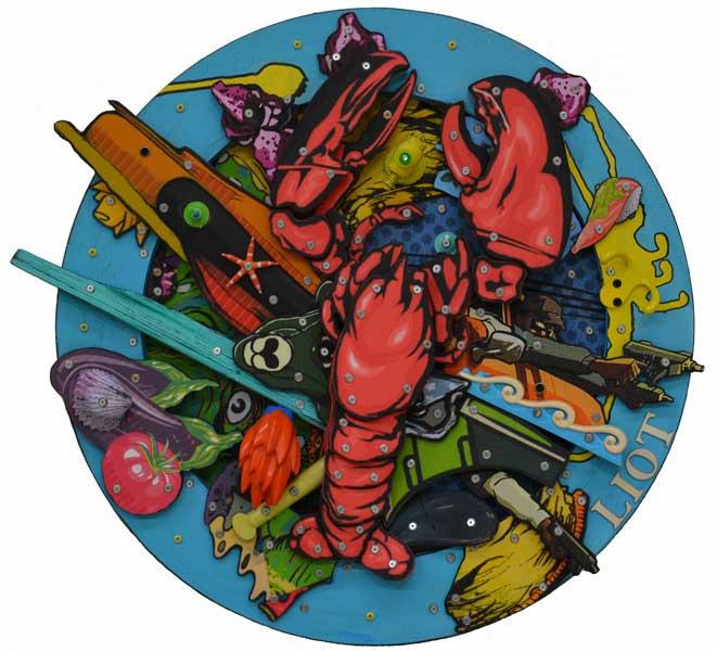 2014 Assiette de la mer diam 65cm w