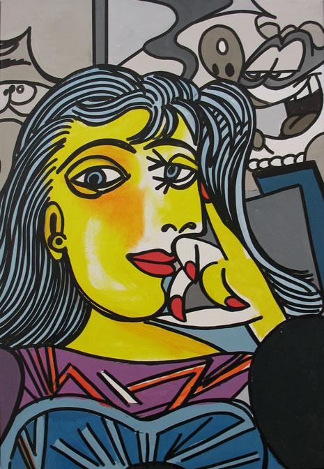 ERRO-sans-titre-picasso-55x37-2007
