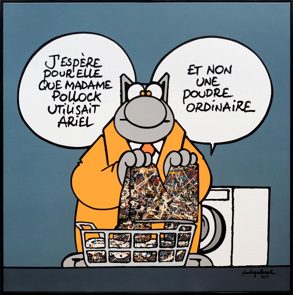 Madame Pollock-acrylique sur toile-100x100-2011