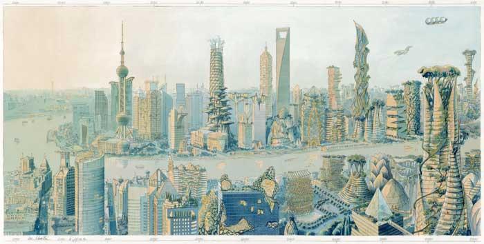 13 Shanghai bleu