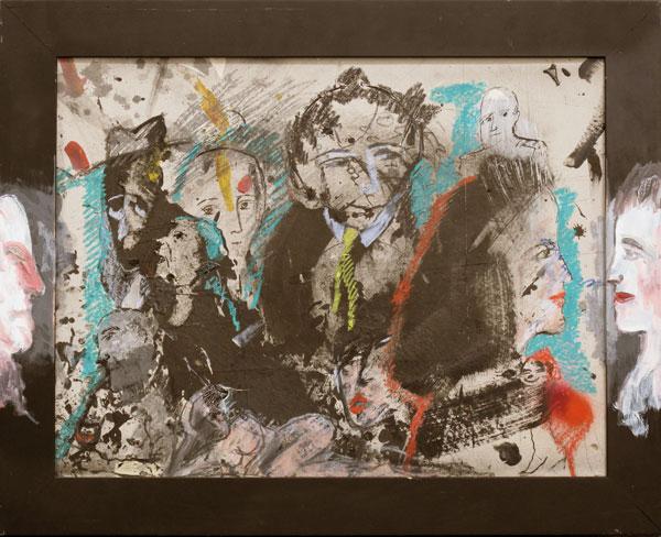 Brève rencontre - acrylique sur carton - 62 x 78 - 2014