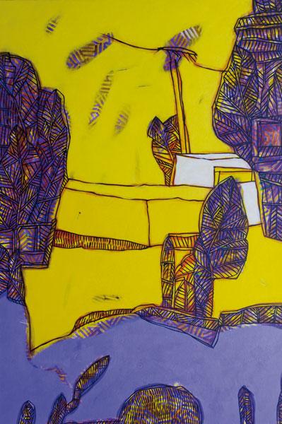 Mur de soleil - Acrylique sur toile - 146 x 97 - 2016