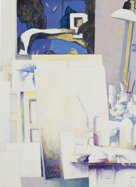 Atelier blanc - Acrylique sur toile - 100 x 73 - 2016