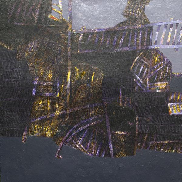 Noir soleil - Acrylique sur toile - 80 x 80 - 2015