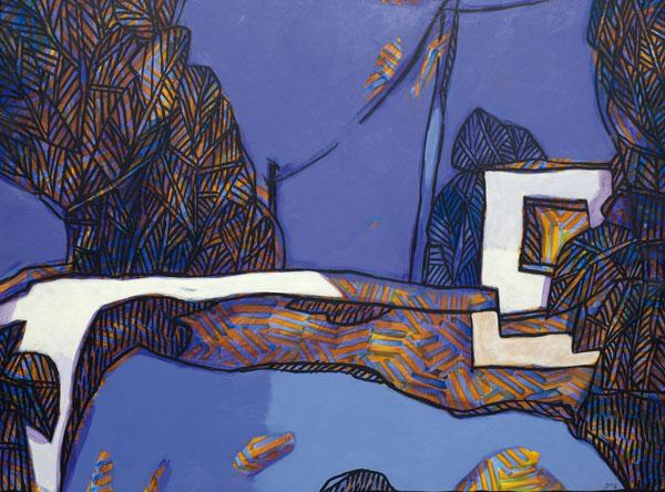 Mur de neige - Acrylique sur toile - 54 x 73 - 2016