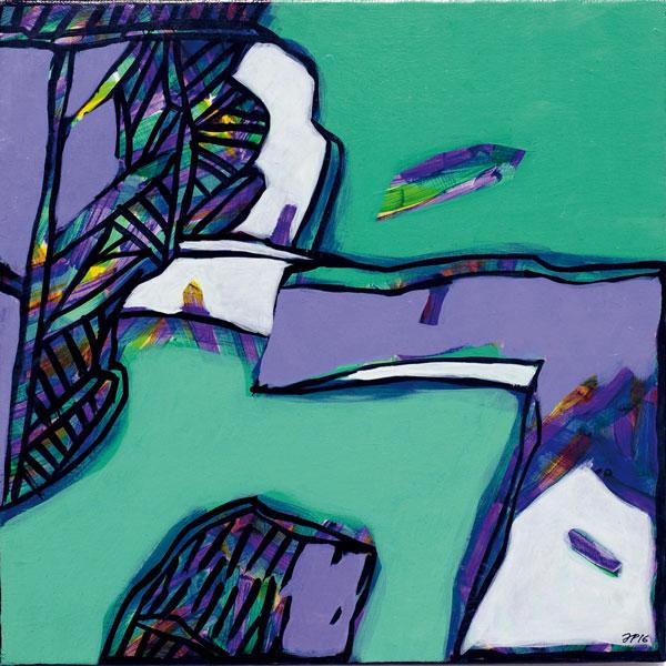 Meltem vert - Acrylique sur toile - 30 x 30 - 2016