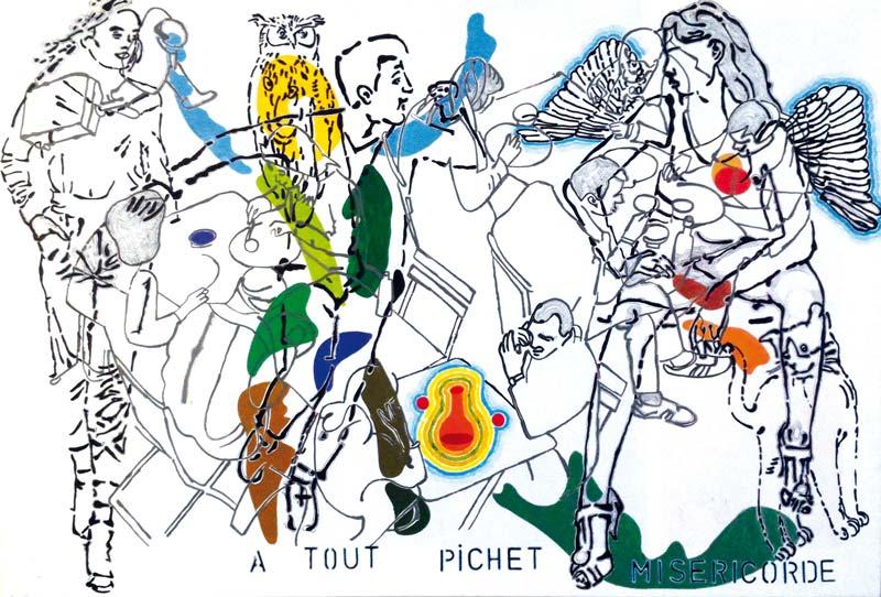 A-tout-pichet-misericorde 1 - acrylique sur toile - 116 x 81 - 2016