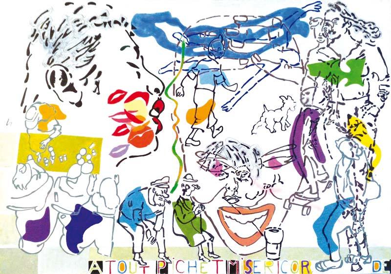 A-tout-pichet-misericorde 4 - acrylique sur toile - 70 x 100 - 2016