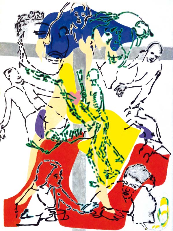 A-tout-pichet-misericorde 6 - acrylique sur toile - 80 x 60 - 2017