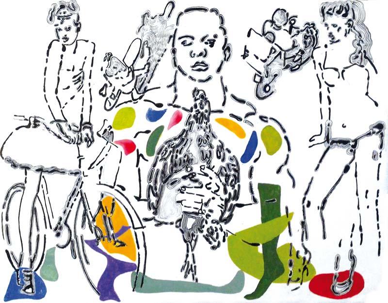 A-tout-pichet-misericorde 8 - acrylique sur toile - 50 x 65 - 2017