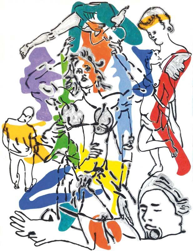 A-tout-pichet-misericorde 9. - acrylique sur toile - 65 x 50 - 2017