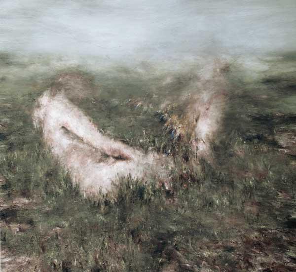 Annonciation - huile sur toile - 2015 -140 x 150