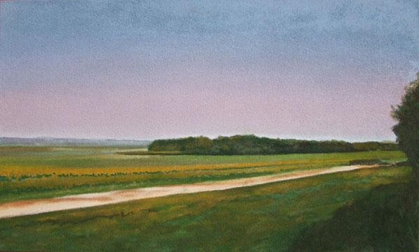Chemin de terre 43x71,5 Claude GAZIER 2017