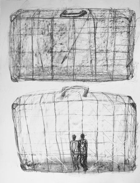 Bon voyage - encre sur papier - 50 x 65 - 2017