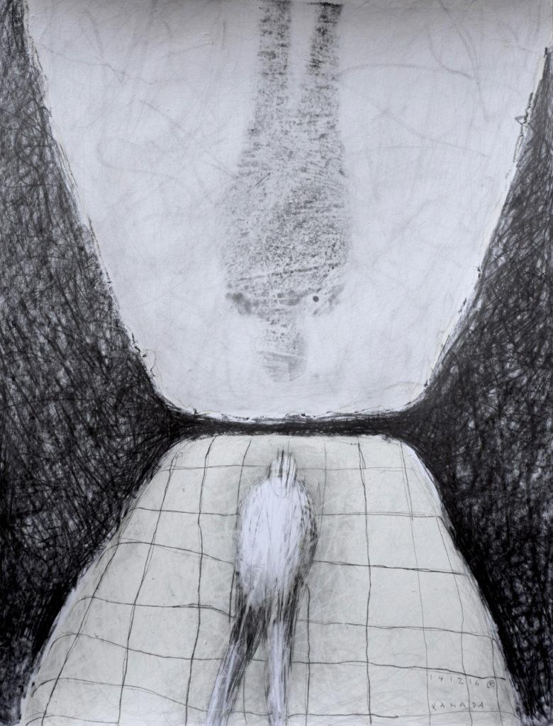 Miroir - encre sur papier - 65 x 50 - 2017