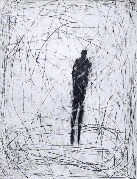 air-mer - encre sur papier - 65 x 50 - 2017
