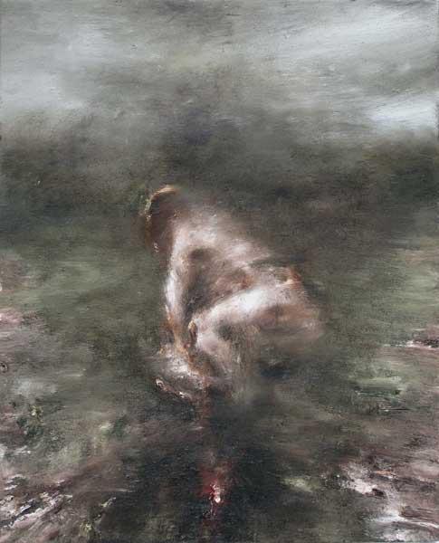 Figure dans un paysage 1 - huile sur toile - 2015 - 41 x 33