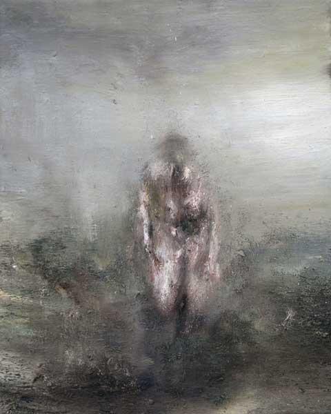 Figure dans un paysage 2 - huile sur toile - 2015 - 41 x 33