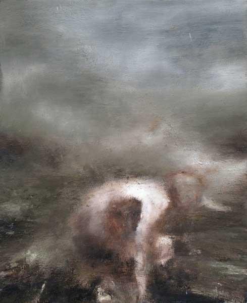 Figure dans un paysage 3 - huile sur toile - 2015 - 41 x 33