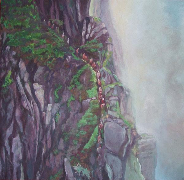La Colère de Dieu - Technique mixte sur panneau - 122 x 125,7 - 2017