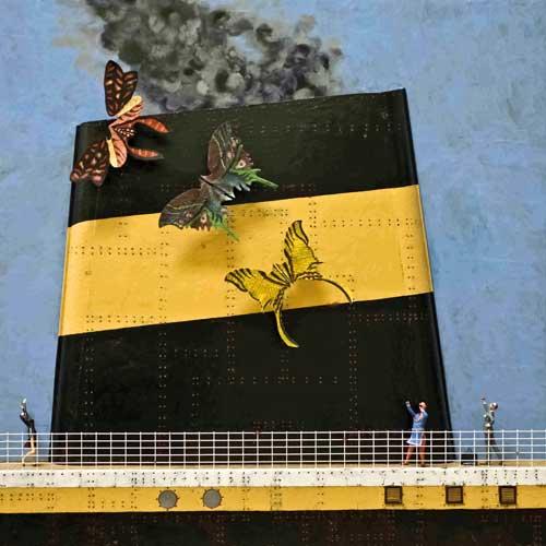 Le Cerf-volant - Boîte, technique mixte - 105 x 105 x 10 - 2007