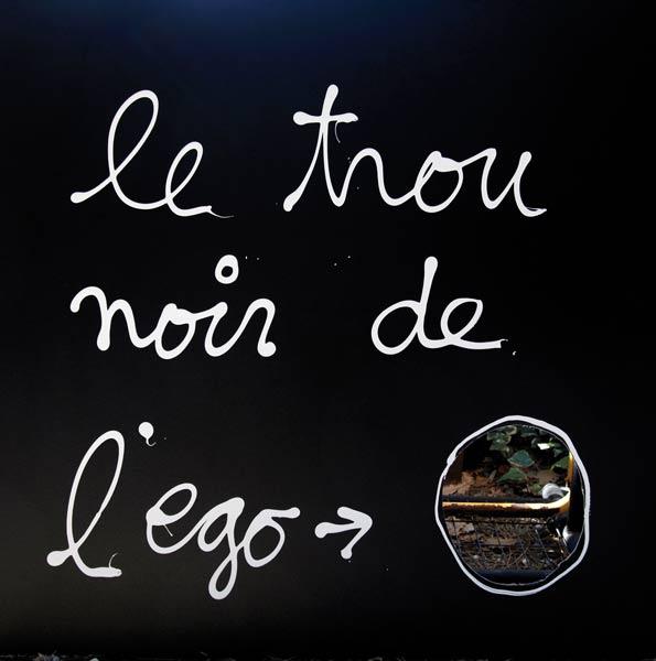 Le trou noir de l'ego - acrylique sur toile - 100 x 100 - 2014
