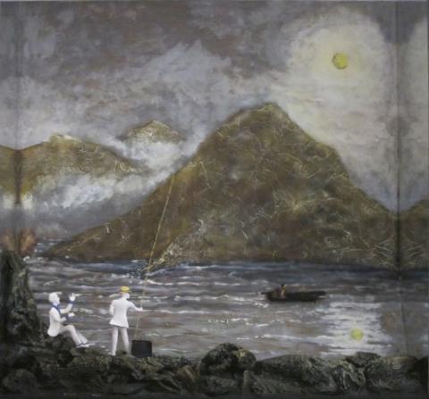 Li Po Talman et Moi - Boîte, technique mixte - 62 x 62 x 14 - 2011