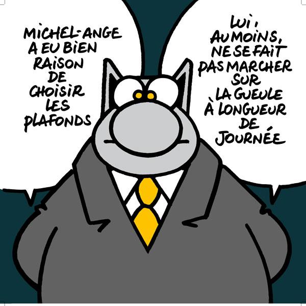 Merci Michel-Ange - sérigraphie sur carton - 84 x 84