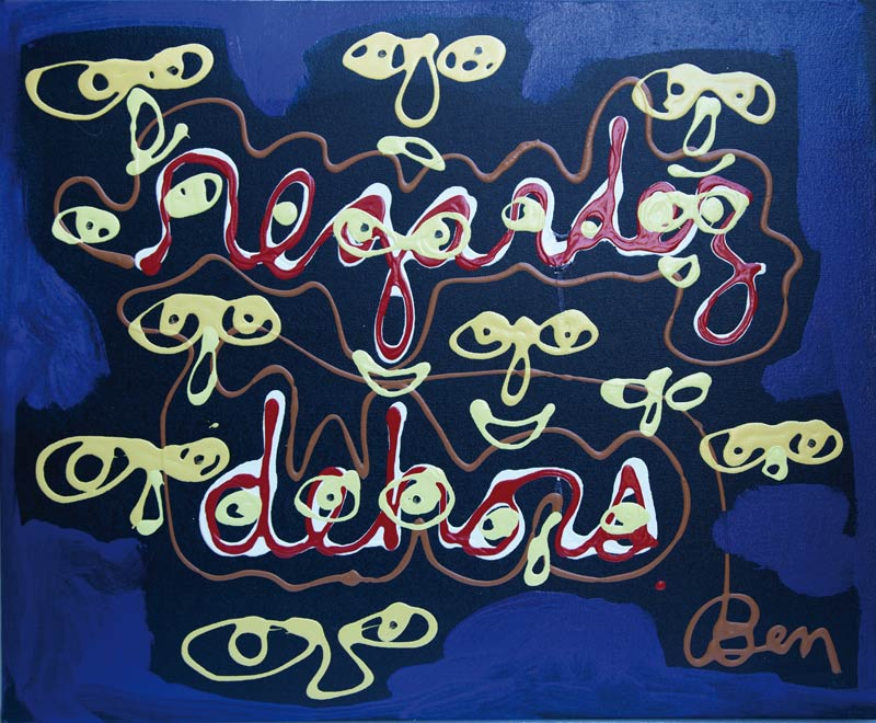 Regardez dehors - acrylique sur toile - 50 x 61 - 1996