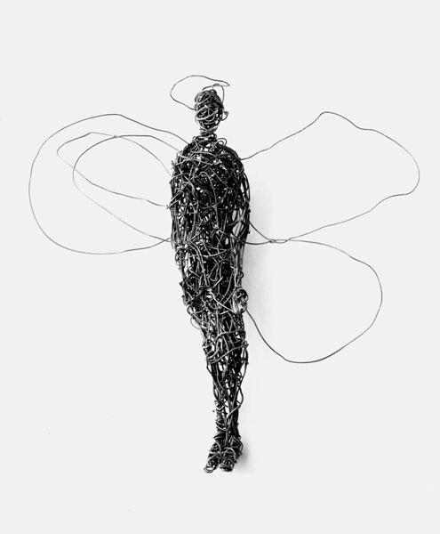 Papillon - Fil de fer - 48 x 48 x 18 - 2017