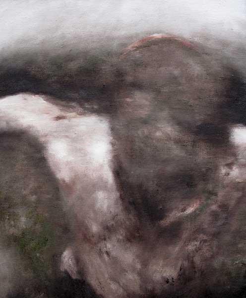 Sans titre 3 - huile sur toile - 2016 - 41 x 33