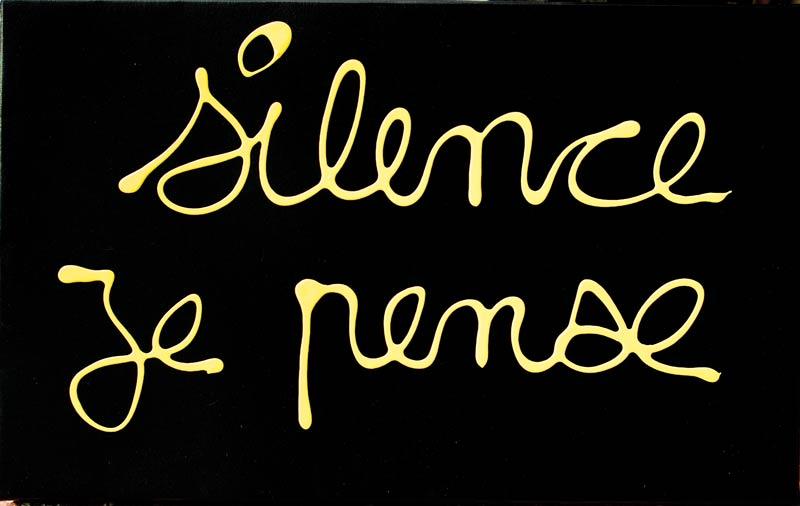 Silence je pense - acrylique sur toile - 38 x 61 - 2012