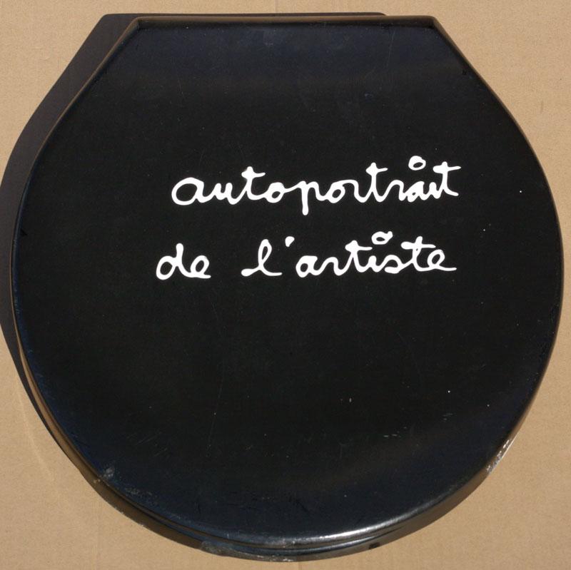 autoportrait de l'artiste - acrylique et photo sur plastique - 45 x 38 - 1991