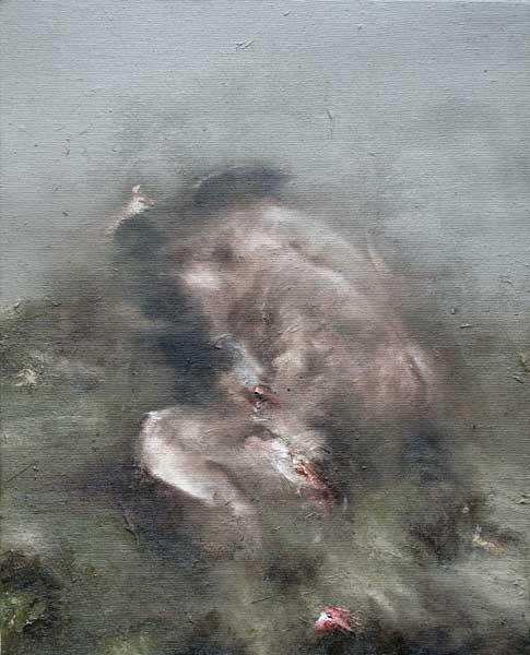 sans titre 1 - huile sur toile - 2016 - 41 x 33