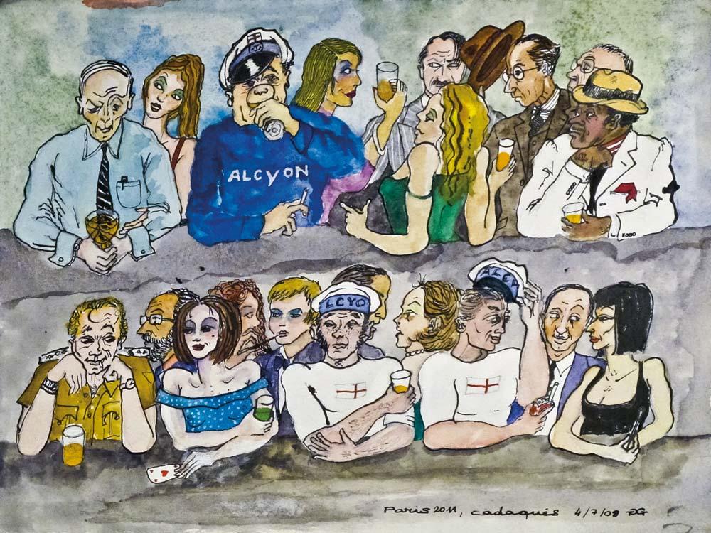 Gilles GHEZ : Cadaques Alcyon - peinture sur papier