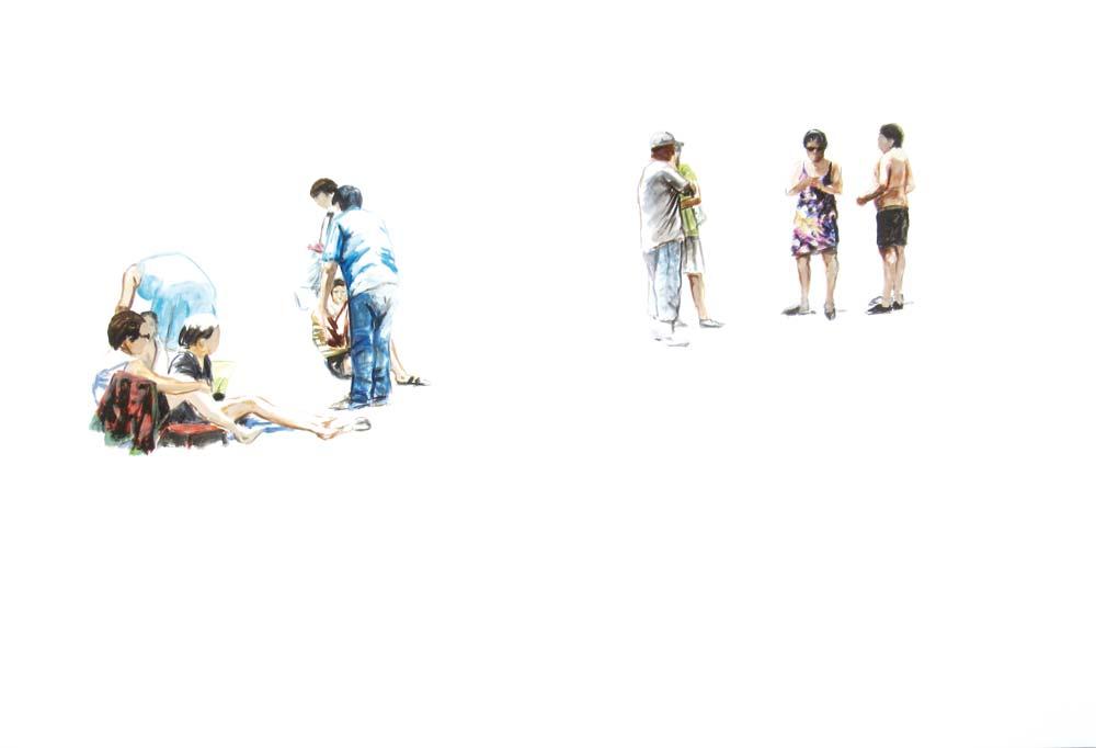 ELZEVIR : Eté - 2010 - Gouache sur papier - 75 x 110