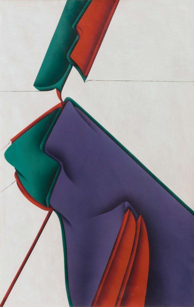 Jacques POLI : Saturnia - 1979 - acrylique sur papier - 100 x 65