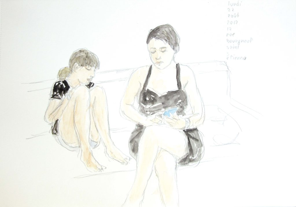 ELZEVIR : rue Bourgneuf - 2017 - Crayon et aquarelle - 29,5 x 42