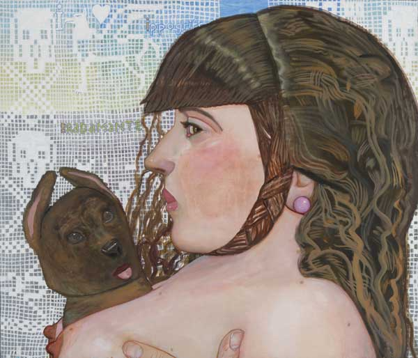 ANDREA - Bradamante 60x70cm. Huile et caseine sur toile. 2014