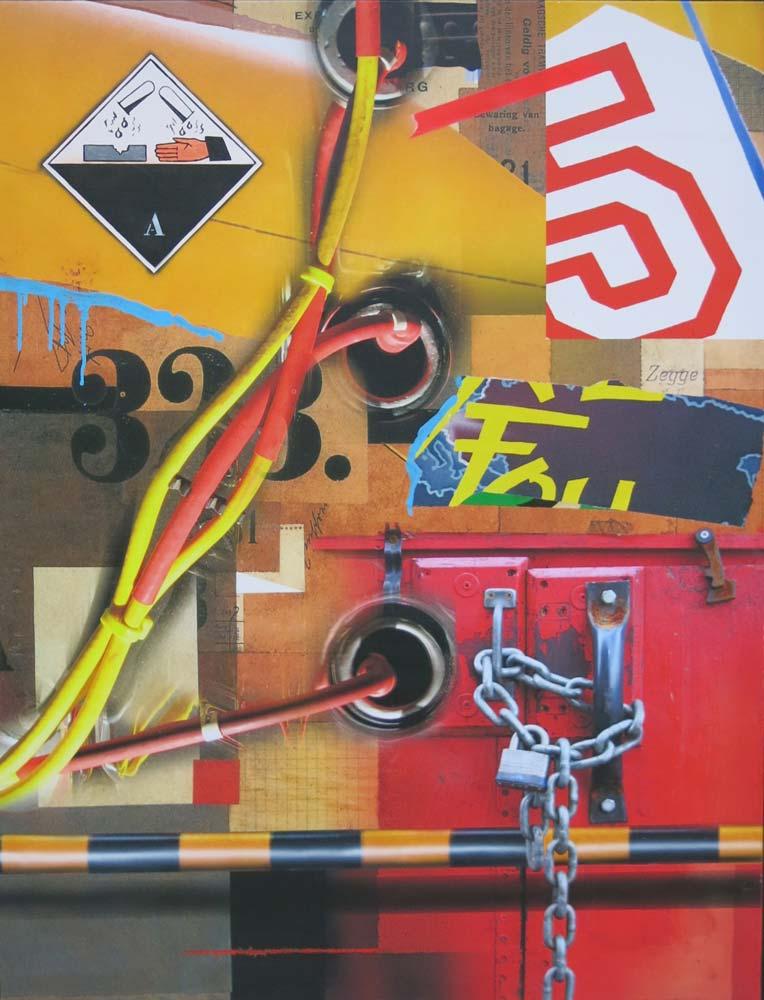 Klasen - Chaine corrosif A 2014 Technique mixte sur toile, 116 x 81