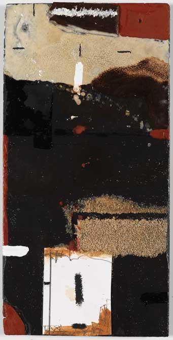 Sans titre A30-14 Huile et matière sur ardoise, 56 x 28