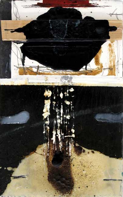 Sans titre A49-14 Huile et résine sur ardoise, 40 x 25