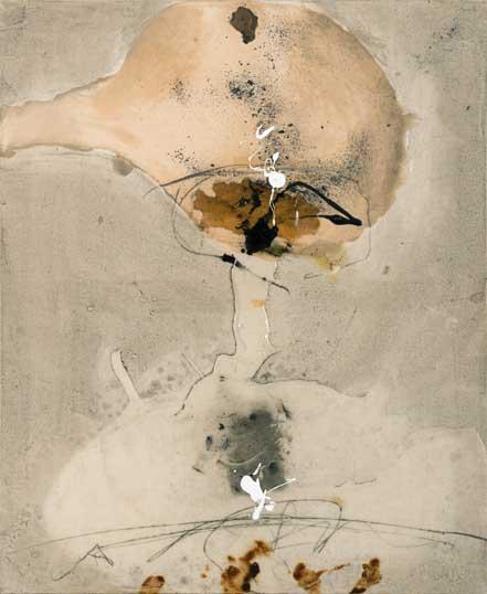 Sans titre T08-15 Huile et résine sur toile, 61 x 50