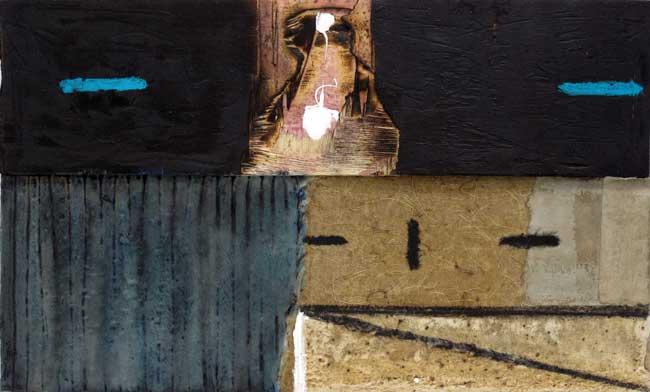 Sans titre T13-16 Huile, résine et bois sur toile, 33 x 55