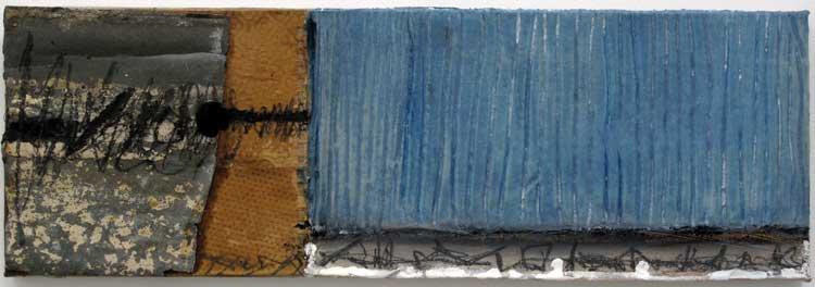 Sans titre T58-15 huile et résine sur toile, 20 x 60