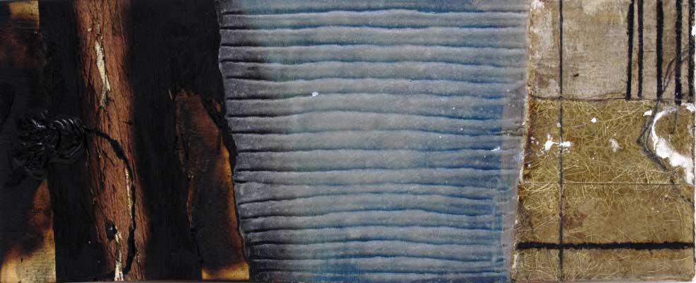 Seve B22-16 Résine et collage sur bois, 25 x 60