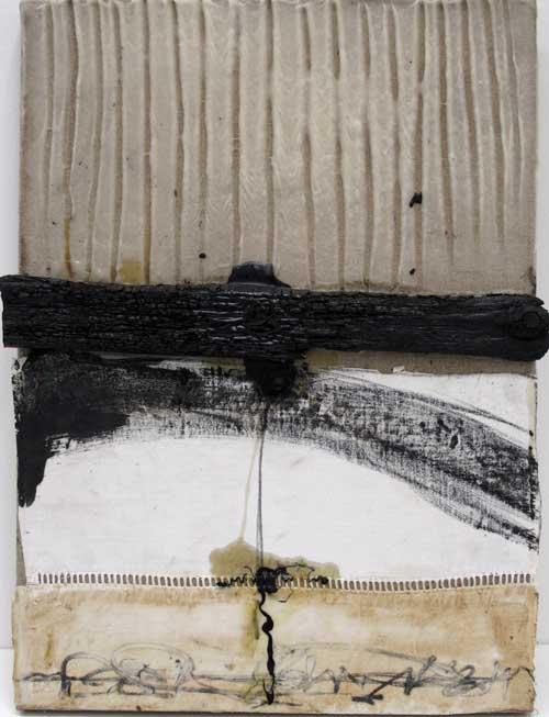 Seve T01-16 Huile et collage sur toile, 46 x 33