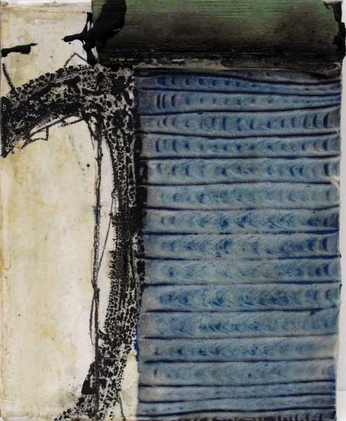 Seve T05-16 Huile et collage sur toile, 41 x 33