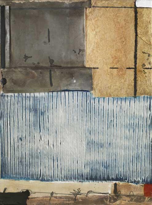 Seve T19-16 huile et collage sur toile, 73 x 54