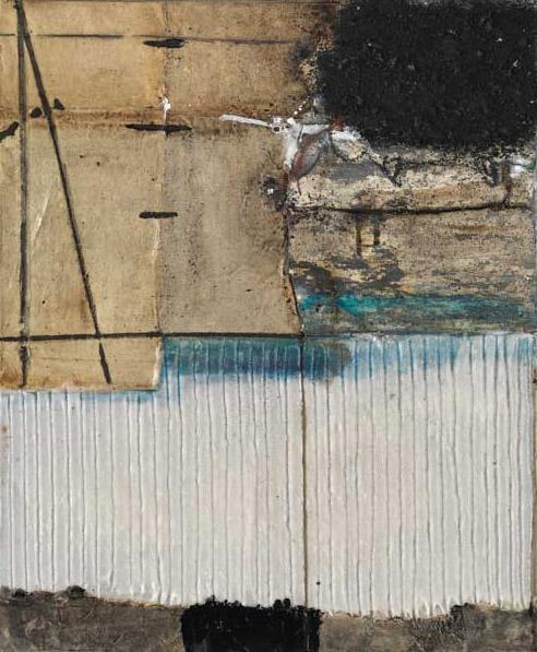 Seve T20-16 Huile, résine et collage sur toile, 65 x 54